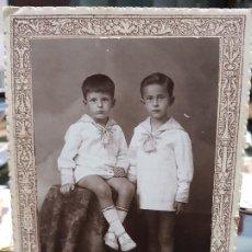 Fotografía antigua: ANTIGUA FOTOGRAFIA NIÑOS NOVELLA VALENCIA . Lote 195112957