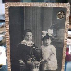Fotografía antigua: ANTIGUA FOTOGRAFIA NIÑOS GROLLO VALENCIA. Lote 195113188