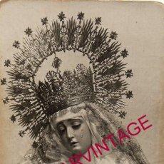 Fotografía antigua: SEMANA SANTA DE SEVILLA. FOTOGRAFIA DE LA VIRGEN DEL ROSARIO DE MONTESION. FOTO LUNA, 9X14 CMS. Lote 195160417