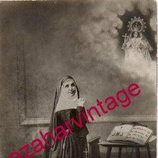 Fotografía antigua: SEVILLA, AÑOS 20, SOR ANGELA DE LA CRUZ, FOT.LA MADRILEÑA, 9X14 CMS. Lote 195221422