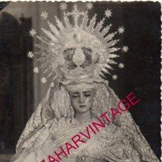 Fotografía antigua: SEMANA SANTA DE CAMAS, SEVILLA, PRECIOSA FOTOGRAFIA DE LA VIRGEN DE LOS DOLORES, 9X14 CMS. Lote 195225806