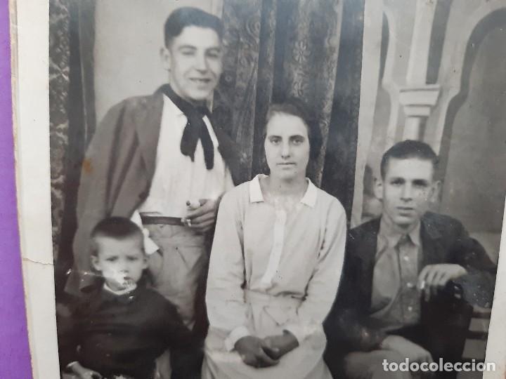 ANTIGUA TARJETA POSTAL FOTOGRAFICA ARTISTICA FAMILIA VALENCIANA EPOCA PRINCIPIO DE SIGLO (Fotografía Antigua - Tarjeta Postal)