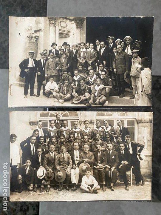 LOTE DE 2 FOTOPOSTALES CON PERSONAJES EN CÓRDOBA EN EL AÑO 1928 , SANTOS CORRESPONSAL GRÁFICO (Fotografía Antigua - Tarjeta Postal)
