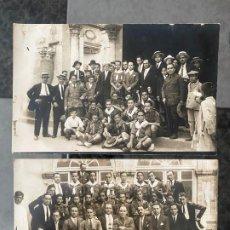 Fotografía antigua: LOTE DE 2 FOTOPOSTALES CON PERSONAJES EN CÓRDOBA EN EL AÑO 1928 , SANTOS CORRESPONSAL GRÁFICO . Lote 195359722