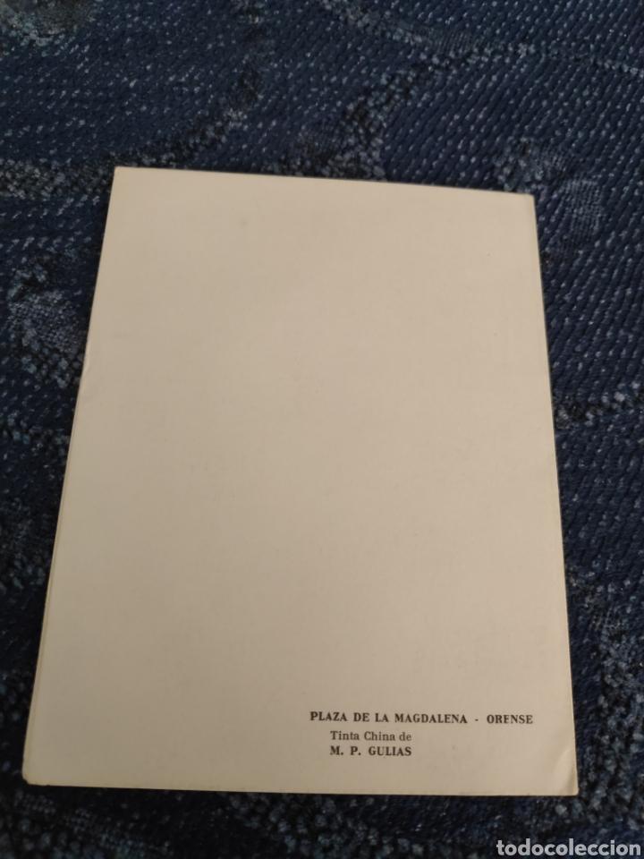 Fotografía antigua: Tinta china de Mari Paz gulias - Plaza de la Magdalena - Orense Postal - Foto 2 - 195382353