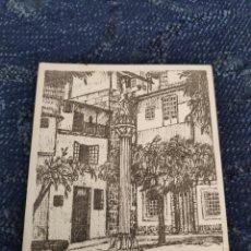 Fotografía antigua: TINTA CHINA DE MARI PAZ GULIAS - PLAZA DE LA MAGDALENA - ORENSE POSTAL. Lote 195382353