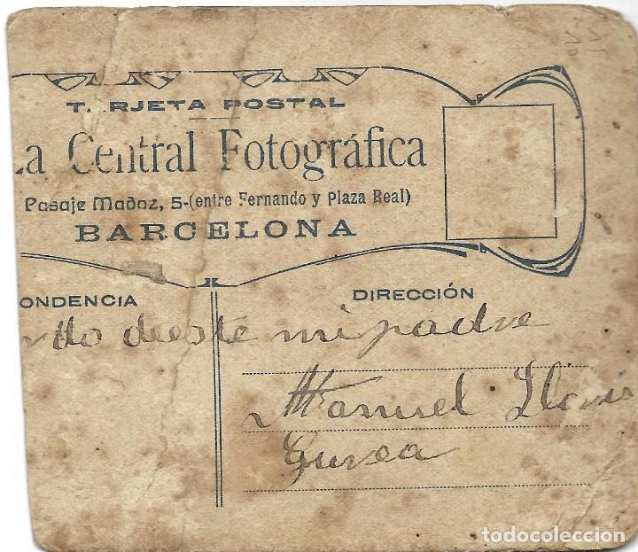 Fotografía antigua: FOTOGRAFÍA ANTIGUA RECORTADA DE DOS HOMBRES - FOTOGRAFÍA LA CENTRAL FOTOGRÁFICA - BARCELONA - Foto 2 - 195426483