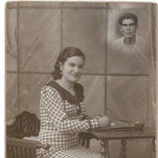 Fotografía antigua: FOTOGRAFÍA ANTIGUA CHICA 14 FEBRERO 1937 - GUERRA CIVIL - FOTÓGRAFO VERDÉS - CABAÑAL (VALENCIA). Lote 195427027