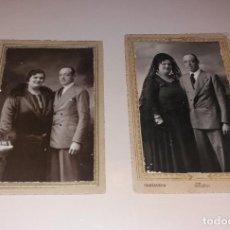 Fotografía antigua: FOTOGRAFÍA. MATRÁN (CARTAGENA Y ÁGUILAS), PAREJA, SOBRE CARTÓN, 2 FOTOS 1929 Y 1933. Lote 197251638