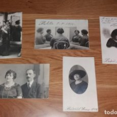 Fotografía antigua: FOTOGRAFÍA. TARJETAS POSTALES, LOTE 5 FOTOS, VIDA DE UNA MUJER, 1914 A 1923. Lote 197252360