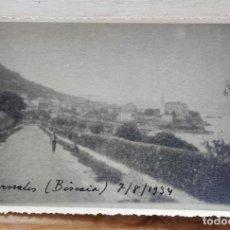 Fotografía antigua: FOTO PEDERNALES VIZCAYA. AÑO 1934. TAMAÑO POSTAL. . Lote 199794473
