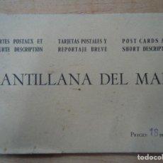 Fotografía antigua: MUY ANTIGUAS CARPETA 12 POSTALES DE SANTILLANA DEL MAR CON PLANO 12 POSTALES ANTIGUAS EN UNA CARPETA. Lote 200252677