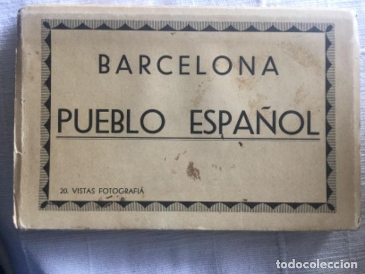 BARCELONA PUEBLO ESPAÑOL 20 VISTAS FOTOGRAFIA FOT. L. ROISIN - BUEN ESTADO DE CONSERVACION (Fotografía Antigua - Tarjeta Postal)