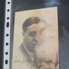 Fotografía antigua: RARISIMA FOTO POSTAL FIRMADA Y DEDICADA POR FERNANDO FERNAN SOLER AÑO 1931.. Lote 201998617