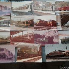 Fotografía antigua: LOTE DE 15 FOTOS DE TRENES.. Lote 205128715