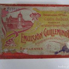 Fotografía antigua: CURIOSA CAJA PARA CARTES POSTALES SENSIBLES - EMULSION GUILLEMINOT, PARÍS. Lote 205896281