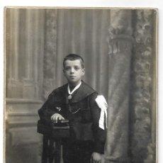 Fotografía antigua: NIÑO DE COMUNIÓN - FOTÓGRAFO GARRIGOSA S.A. - BARCELONA. Lote 206249170