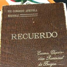 Fotografía antigua: RECUERDO DEL OCTAVO CONGRESO AGRÍCOLA REGIONAL 1912 BURGOS QUINCE FOTOGRAFIAS. Lote 206305726