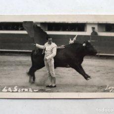 Fotografía antigua: TORERO, VICTORIANO DE LA SERNA, ARTE Y FIGURA. FOTOGRAFÍA ORIGINAL (H.1940?). Lote 207092113