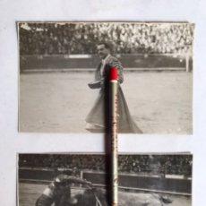 Fotografía antigua: PEPE LUIS VÁZQUEZ ?? MATADOR DE TOROS, LA MONUMENTAL DE BARCELONA (2) FOTOGRAFÍAS (H.1940?). Lote 207101397