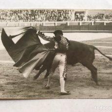 Fotografía antigua: MADRID, PLAZA DE LAS VENTAS. TORERO, GENIO Y FIGURA, FOTO BALDOMERO (H.1930?). Lote 207112693
