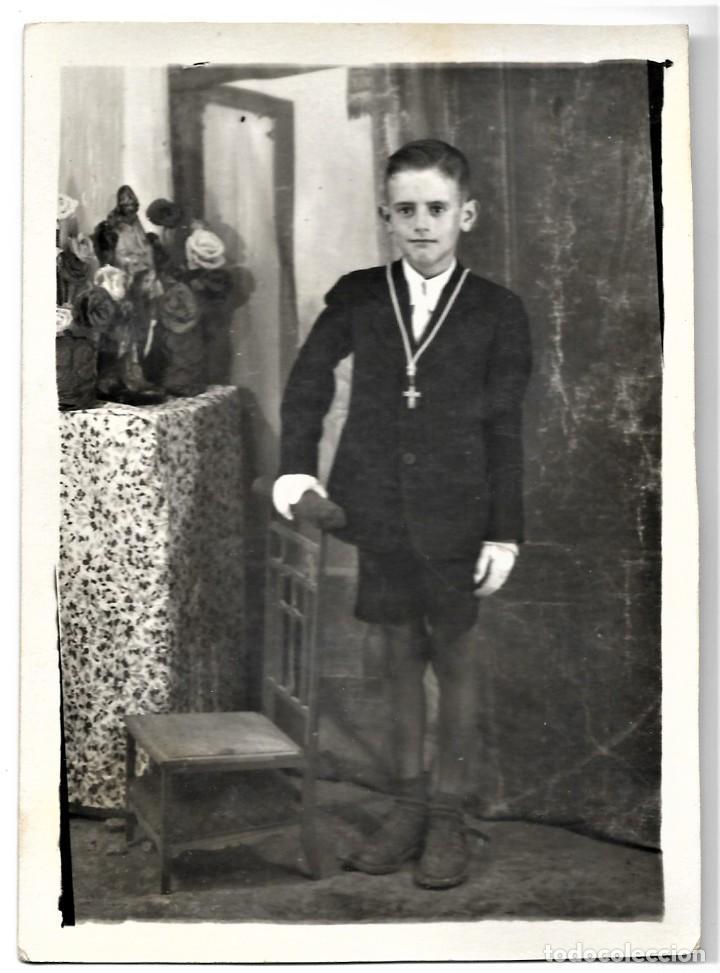 Fotografía antigua: LOTE DOS FOTOGRAFÍAS ANTIGUAS NIÑOS DE COMUNIÓN - Foto 2 - 211395767