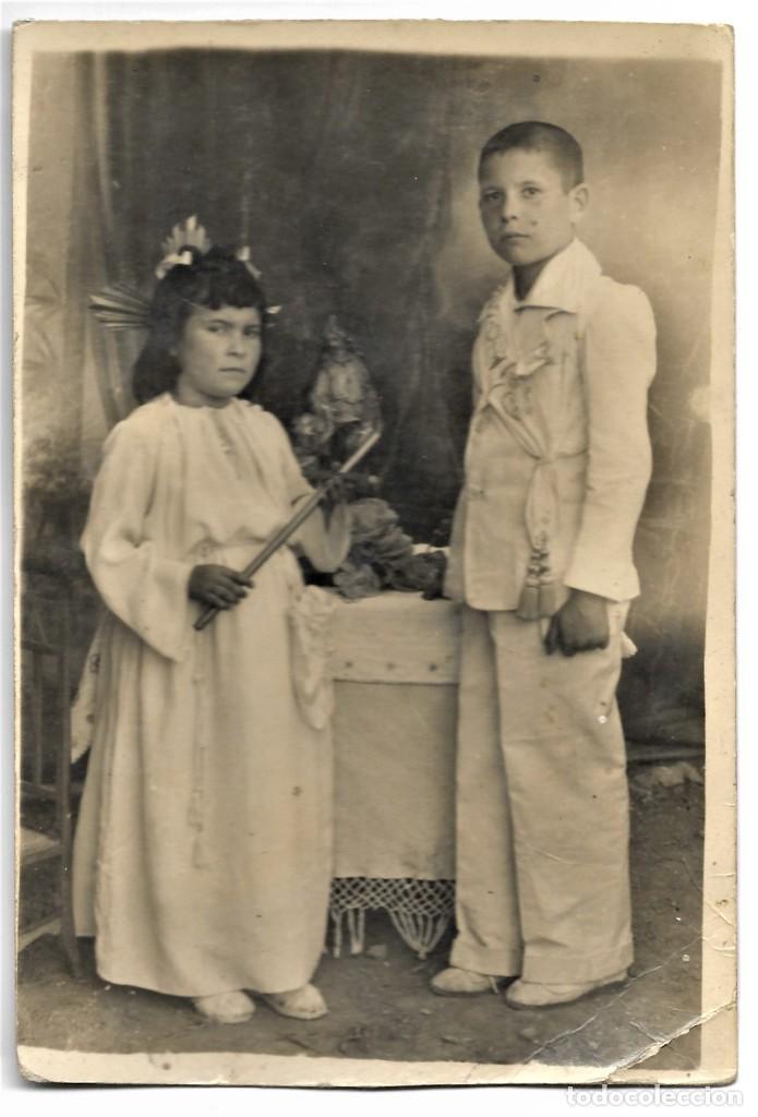 Fotografía antigua: LOTE DOS FOTOGRAFÍAS ANTIGUAS NIÑOS DE COMUNIÓN - Foto 3 - 211395767