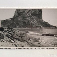 Fotografia antiga: PEÑÓN DE IFACH CALPE, FOTOGRAFÍA ORÍGINAL DEL PEÑÓN..., ANPLIACIONES CASA MARIN (H.1950?). Lote 211655168
