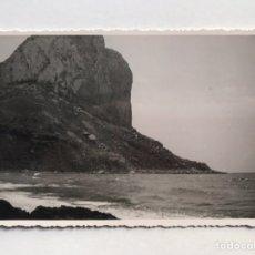 Fotografia antiga: PEÑÓN DE IFACH CALPE, FOTOGRAFÍA ORÍGINAL DEL PEÑÓN..., ANPLIACIONES CASA MARIN (H.1950?). Lote 211655329