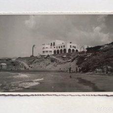 Fotografia antiga: PARADOR NACIONAL DE CALPE, FRENTE AL PEÑÓN. FOTOGRAFÍA, AMPLIACIONES CASA MARIN (H.1950?). Lote 211655694