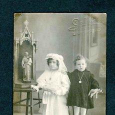 Photographie ancienne: HUESCA. BARBASTRO. F: GALLIFA. RETRATO DE NIÑAS. C. 1910. Lote 211810263