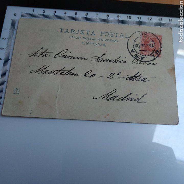 Fotografía antigua: TARJETA POSTAL Recuerdo de Málaga 184 Hauser y menet Madrid 1905 sellada - Foto 2 - 213472607
