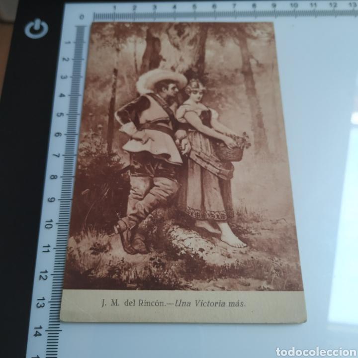TARJETA POSTAL J.M. DEL RINCÓN UNA VICTORIA MÁS PRINCIPIOS DEL S. XX EDICIÓN EXTRA MADRID (Fotografía Antigua - Tarjeta Postal)