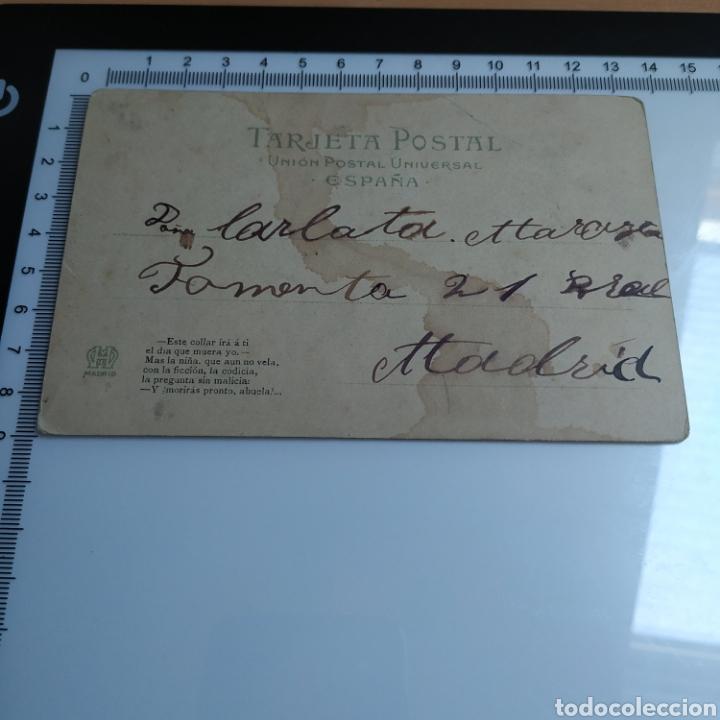 Fotografía antigua: TARJETA POSTAL Colección Cánovas serie m.1 Madrid principios s.XX Mujer y niña - Foto 2 - 213473428