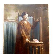 Fotografía antigua: DOS TARJETAS POSTALES J. LLOPIS VALENCIA DE 1931 Y 1924 COLOREADAS. Lote 213693726