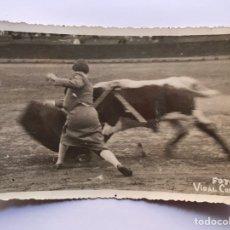 Fotografía antigua: VIDAL CORELLA, FOTOGRAFO VALENCIA, TAUROMAQUIA, JUANITA CRUZ ? (H.1930?). Lote 213707780