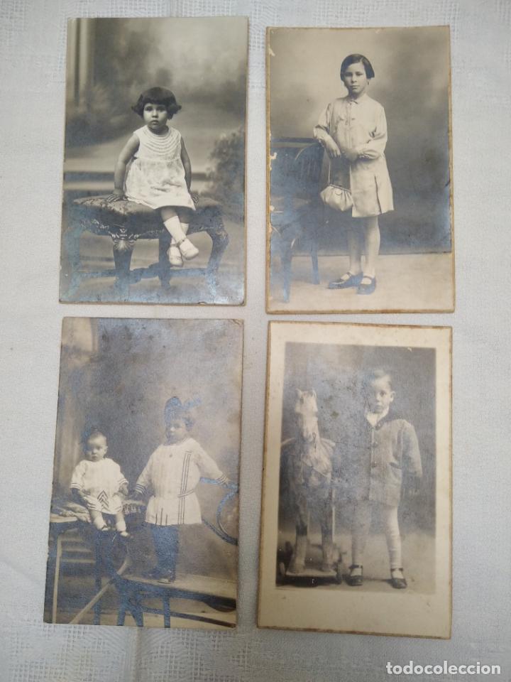 4 FOTOGRAFIAS ANTIGUAS DE NIÑOS. AÑOS 20 (Fotografía Antigua - Tarjeta Postal)