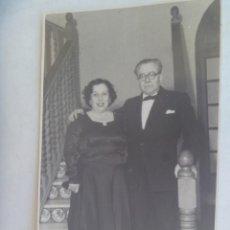 Photographie ancienne: FOTO DE PAREJA ELEGANTE EN FIESTA . CASINO MILITAR DE CEUTA, 1952. Lote 214331380
