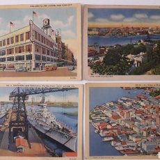 Fotografía antigua: 4 POSTALES ANTIGUAS DE VIRGINIA HABANA Y NEW YORK.. Lote 214835348