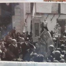 Fotografía antigua: ANTIGUA FOTOGRAFIA RELIGIOSA PROCESION FOTO MOLINA CAUDETE ALBACETE. Lote 217673645