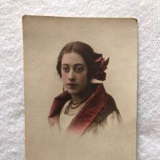 Fotografía antigua: POSTAL FOTOGRAFÍA ILUMINADA DE NIÑA. GRANZMAN. SEVILLA. Lote 217907371
