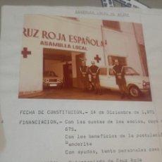 Fotografía antigua: FOTOGRAFÍA DICIEMBRE CRUZ ROJA 1971. Lote 221418210
