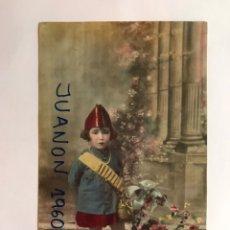 Fotografía antigua: LA UNIÓN MURCIA. FOTOGRAFO ANGEL MARTINEZ. FOTOGRAFIA COLOREADA. NIÑA MILICIANA ? .. (H.1935?). Lote 221927646