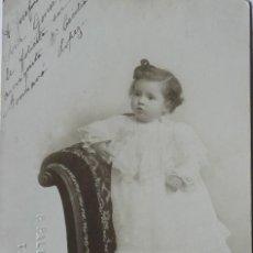 Fotografía antigua: F-4806. FOTOGRAFIA DE ESTUDIO DE UNA NIÑA. AÑO 1905. P.PALLEJÁ, TARRAGONA.FOTOGRAFO. CIRCULADA. Lote 221938760