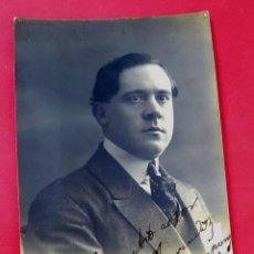 Fotografía antigua: JOAQUIM SALVATELLA I GIBERT - POLITICO - 1911 - POSTAL FOTOGRÁFICA - FIRMADA Y DEDICADA. Lote 222042637