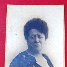 Fotografía antigua: ACTRIZ - IRENE ALBA Y ABAD - 1910 - POSTAL FOTOGRÁFICA. Lote 222043085