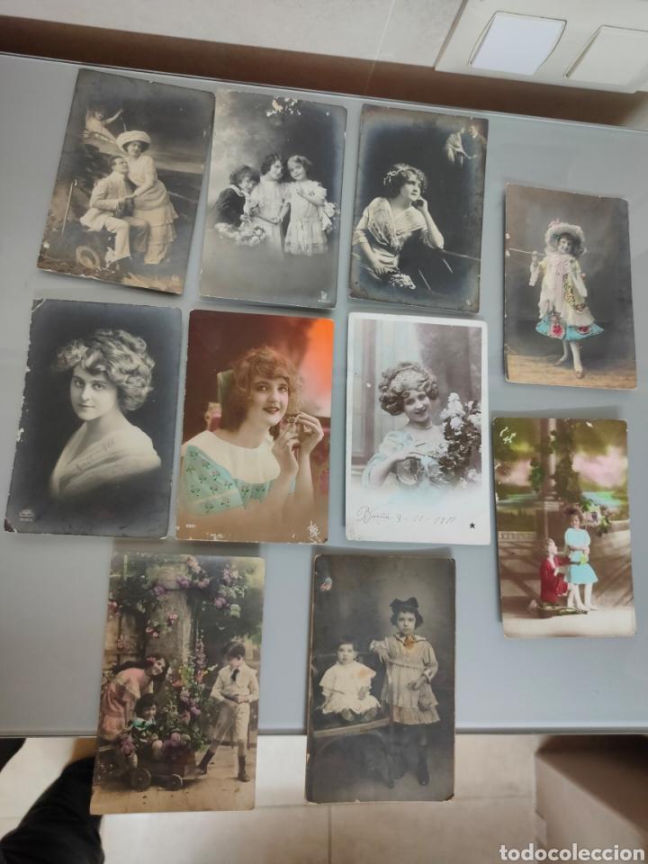 LOTE 10X ANTIGUAS POSTALES 1910 A 1920 (Fotografía Antigua - Tarjeta Postal)