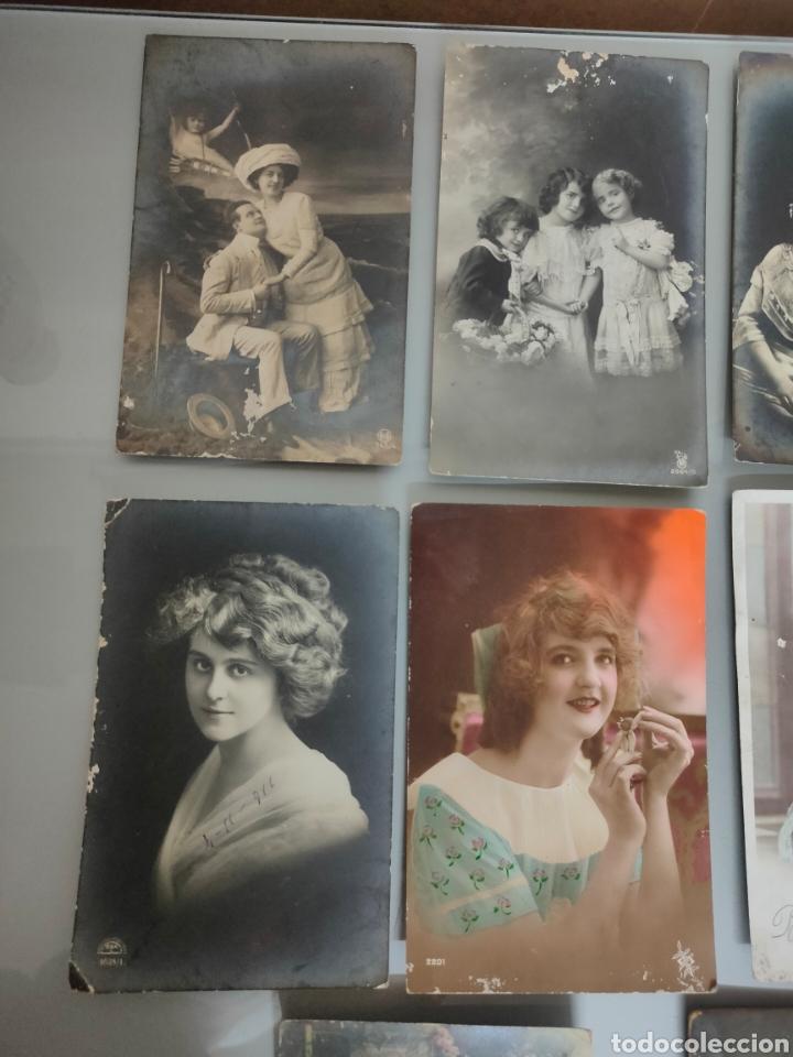 Fotografía antigua: LOTE 10X ANTIGUAS POSTALES 1910 A 1920 - Foto 2 - 226117221