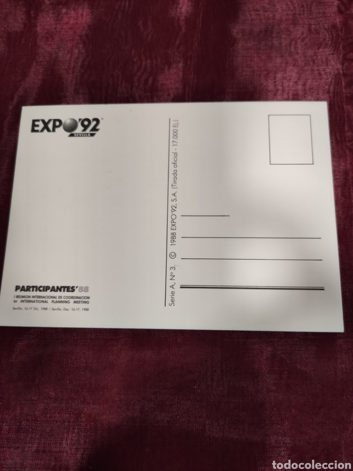 Fotografía antigua: Expo Sevilla 1992 Dos postales - Foto 5 - 226120370