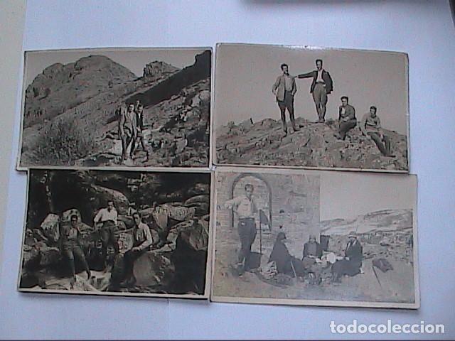 LOTE DE 4 FOTOGRAFIAS 1922-1925. AGUDES Y PARQUE NATURAL DEL MONTSENY. (Fotografía Antigua - Tarjeta Postal)